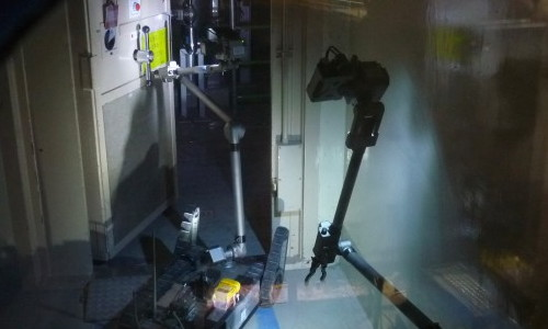 photo of iRobots opening door in reactor building 3