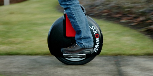 photo of SoloWheel on sidewalk