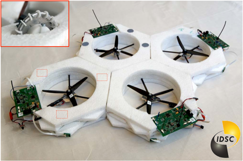 Autonomous distributed modular flying robot at the IDSC at ETH