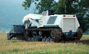 Digger demining robot