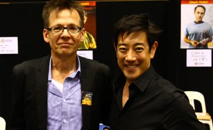 Ron Vanderkley talking with Grant Imahara at SupaNova 2014