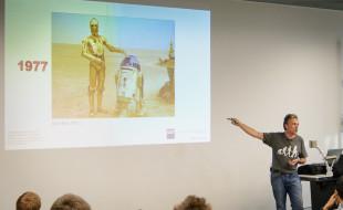Peter Corke presenting